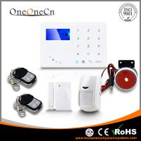 Quality Intelligent APP 433MHZ home GSM alarm system with multi Languages optional for sale