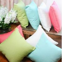 Quality Sofa Solid color dyed cotton cushion,couch decorative knitted summer cooling cushion cover for sale