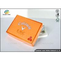 Quality Foldable Orange Cardboard Gift Boxes For Clothes / Candy / Chocolate for sale