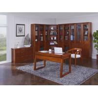 Quality Nanmu solid wood Home office study room furniture set by Tall storage bookcase cabinet and office reading desk Chair for sale