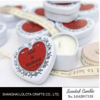 Quality Heart Shaped Travel Tin Soy Candles With Red Printing Logo / One Cotton Wick for sale