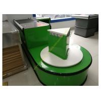 Checkout Counter With Sensor Conveyor Belt / Cashier Desk Stand For Store