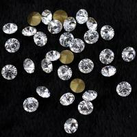 Quality Glass Crystal Point Back Rhinestone Beads Glue on Round Shape Non Hot Fix Craft Ornament Bags Shoes Makeup Trimming for sale