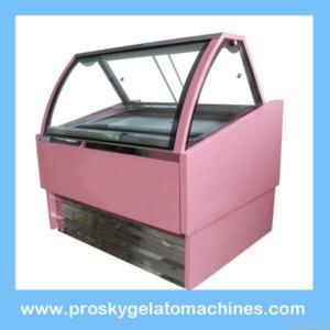 Quality Ice Cream Showcase/gelato Display Cabinet for sale