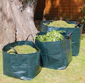 Quality self standing plastic yard,lawn and leaf bags / reusable garden waste sacks,big bag/wholesale bulk bags/Garden Waste Sac for sale