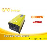 CE & FCC 6kw Single output off grid solar inverter 48vdc 220vac frequency inverter for solar power system