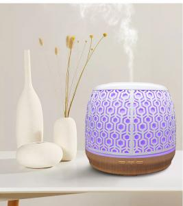 Quality 500ML Essential Oil Diffuser Big Capacity Iron Metal Ultrasonic With Colorful Light for sale