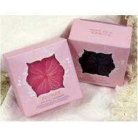 China Pink Elegant Custom  Paper Boxes / Hot Stamping Logo Gift Square Box With Window on sale