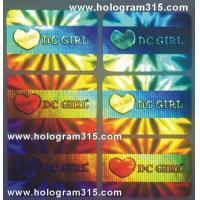 Quality hologram adhesive sticker for sale