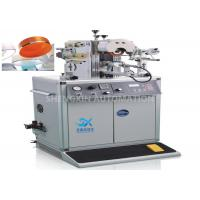 Quality Irregular Caps Semi - Automatic Hot Foil Plastic Stamping Machine 0.6MPa Compressed Air for sale