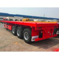 Quality Semi Flatbed Container Trailer 40 Ft Gooseneck Trailer Large Loading Capacity for sale
