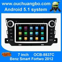 Quality Oucuangbo 7 inch big screen car navigation android 5.1 for Benz Smart Fortwo 2012 with bluetooth 3g wifi for sale
