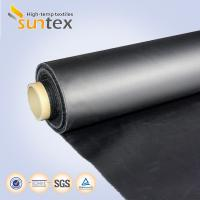 Quality Neoprene Coated Fiberglass Chemical Resistant Fabric 0.5mm Black Color Weather Resistance for sale