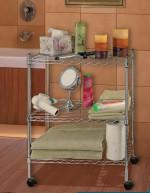 Quality Home Using 3 Tiers Metal Chrome Wire Rack for sale