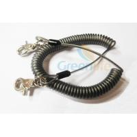 Quality Heavy Duty Coil Tool Lanyard , High Security Coiled Security Tethers Load 15KG for sale