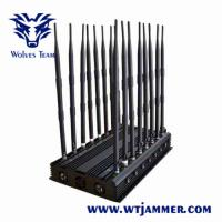 Quality Mobile Phone GPS Jammer 18 Bands Powerful 3G 4G Blocker WiFi UHF VHF GPS L1/L2/L5 Lojack for sale