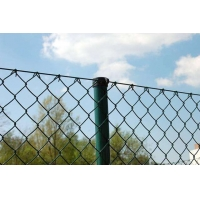 Quality pvc coated 7x7cm hole size chain link fence for sale