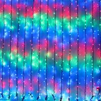 Quality Multi Coloured LED Cascading Waterfall Curtain Light for sale