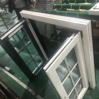 China 6063 T5 T6 Out Swing Aluminum Casement Windows And Door Frosted Glass on sale