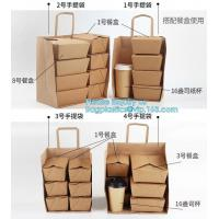 Quality Custom Logo Printed Grocery Packaging Craft Brown Kraft Paper Shopping Bag with Handle,Kraft Paper Shopping Bag , Paper for sale