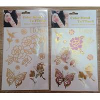 Quality 2015 hot sell UV colorchanging tattoos metallic tattoo gold foil tattoo color change tatto for sale