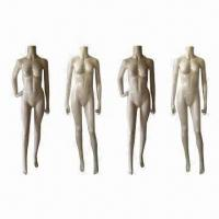 China Headless female mannequins with realistic posture, offered in 4 poses on sale