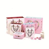 China Custom Size Printed Paper Bags / Personalized Paper Shopping Bags with Handle on sale