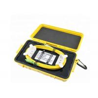 China Durable OTDR Ring Box Dummy Fiber Optic Launch Box With SM / MM Connectors on sale