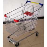 Quality 100 Liters Supermarket Shopping Cart Multifuntional Wire Trolley With Wheels Germany Type for sale