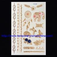 Quality 3D metallic tattoo sticker stamping temporary tattoo for sale