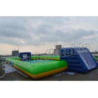 Quality Giant Soap Water Football Field Inflatable Soccer Field for Sale for sale
