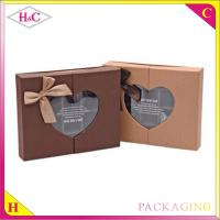 Quality Handmade luxury Pvc window paper chocolate gift box with bowknot for sale