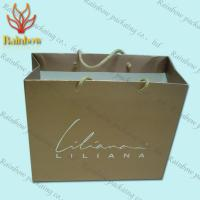 Quality Recycled Kraft Customized Paper Bags With Handles For Shopping for sale