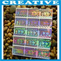 Quality CUSTOM PRINT SECURITY HOLOGRAM LABELS STICKERS for sale