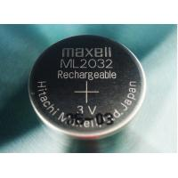 Quality ML2032(Maxell) Rechargeable Button cell battery 3v 65mah for sale