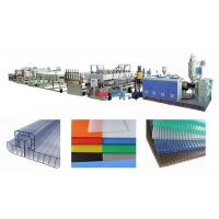 Quality Polycarbonate Hollow Plastic Sheet Production Line For PC Hollow Cross Section Sheet for sale