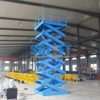 Quality 5T 6M Heavy Duty Stationary Hydraulic Scissor Lift Warehouse Cargo Lift With CE for sale