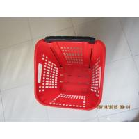 Quality Supermarket PP Rolling Shopping Basket / Cart with Four Wheels for sale