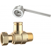 Quality 3103 Male x Flex. Female Threaded Brass Water Meter Ball Valve Magnetic Lockable with Dust Proof Cover for Leadseal for sale