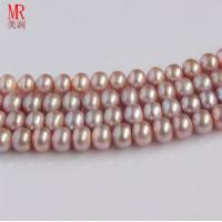 Quality 9-10mm Lavender Freshwater Pearl Strands, Button Round for sale