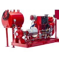 Ul / Fm End Suction Split Case Fire Pump , Diesel Engine Fire Pump