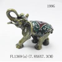elephant trinket box alloy jewelry box home decoration jewelry box