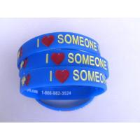 Quality Hot sale silicone bracelet with debossed logo/Silicone Wristband with debossed logo for sale