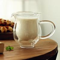 Quality Handcraft Borosilicate Glass Double Wall Coffee Cups Heat Resistant 250ml Capacity for sale