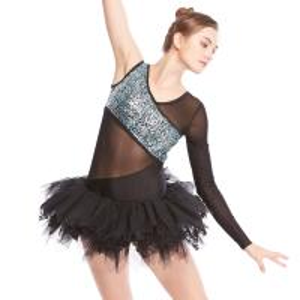 3bec9420c2c6b ... Buy MiDee V-Neck One-Sleeve Leotard with Lace Inserted Tutu Skirt Ballet  Dance ...