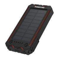 Quality 12000MAh Portable Solar Panel Power Bank Waterproof Dustproof Poweradd Solar Charger for sale