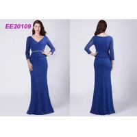 Quality A - Line Floor Length Mother Of The Bride Formal Gowns Lace Evening Dresses for sale