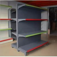 Quality Double Sided Four Tier Supermarket Display Stands / Retail Display Shelving Units for sale