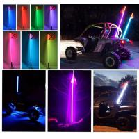 China Bluetooth car led light RGB color Quick Release 12V IP68 2-6 Feet Car Antenna buggy flag safety led whips for ATV UTV on sale