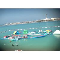 Quality 0.9mm PVC Inflatable Water Slide Park / Ultimate Inflatable Floating Water Park for sale